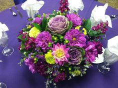 purples and greens arrangement
