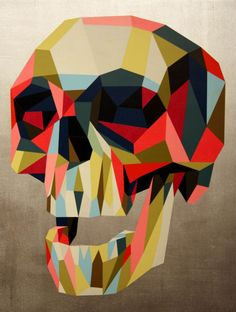 Tim Biskup . Skull . Pop Surrealism . Illustration .
