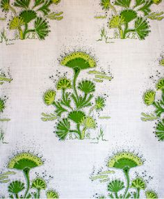 Seaweed in Lime from Katie Ridder #fabric #green