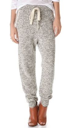 Thakoon Addition Marled Knit Sweatpants, looks so comfy Cardigan Bebe, Knit Pants, Athleisure, Dress Me Up, Passion For Fashion, Lounge Wear, Knitwear, What To Wear, Ideias Fashion