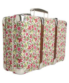 how about I modpoge a suitcase in vintage papers, wallpapers and stuff, and then do the craft/art storage thing to it!