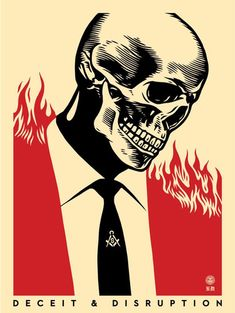 Deceit & disruption Screenprint by Shepard Fairey,. Art Obey, Obey Wallpaper, Francisco Reyes, Shepard Fairey Art, Propaganda Art, Political Art, Movie Poster Art, Art Moderne, Art Graphique