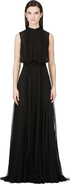 Zuhair MURAD | Black Beaded and Layered Gown