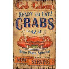 crab wall art