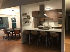 IKEA's walnut VOXTORP doors are so new, they aren't even in a showroom kitchen yet. Next best thing? Peeping these pics from our customer's new kitchen.