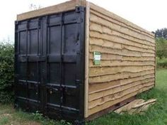 cladding on shipping container - Google Search