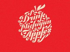 Drink Michigan Apples - Fonts In Use