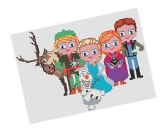 Frozen characters - Pattern PDF   by POWSTITCH