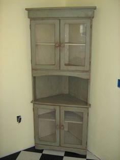 Shabby Corner Cabinet  Vintage Cabinet Chippy Cabinet Corner Brilliant Dining Room Corner Hutch Cabinet 2018