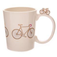 Coffee Mug Funky Retro Bicycle Design Shaped by getgiftideas