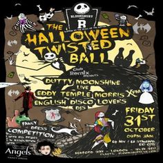 "The Halloween Twisted Ball at Bloomsbury Lanes, Basement of Travistock Hotel, Bedford Way, London, WC1H 9EU, UK. On Oct 31, 2014 to Nov 01, 2014 at 9:00pm to 3:00am. Bloomsbury Lanes Cordially invite you to The Halloween Twisted ""Fancy Dress"" Ball - in association with Club Remix / English Disco Lovers and Angels Fancy Dress!  URLs: Facebook: http://atnd.it/16134-1 Tickets: http://atnd.it/16134-2  Category: Nightlife, Price: ADV £6, DOOR £10."