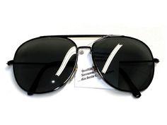 Tedd Haze Pilotenbrille Classic Black mit Brillen Beutel