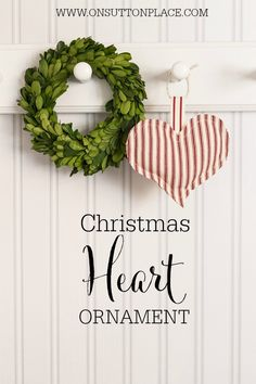 Heart Christmas Tree Ornament | An easy tutorial from onsuttonplace.com