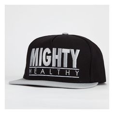 d50db6fc316 MIGHTY HEALTHY Throwback Snapback Mens Hat ( 4.97) ❤ liked on Polyvore  featuring men s fashion
