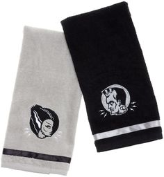 The Monster Hand Towels set is fit for a fiend (and his bride). The electrifying…