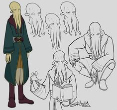 Rhis stuff by Skawly on DeviantArt Alien Character, Character Drawing, Character Concept, Character Design, Dnd Characters, Fantasy Characters, Dungeons And Dragons Board, D D Races, Mind Flayer