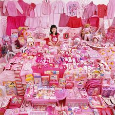 Fun photo. I am sure we have enough pink stuff... and maybe purple too:)