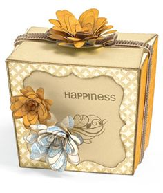 What a cute autumn-themed box from Close To My Heart! It looks hard, but it was a cinch with the new Cricut Art   Philosophy Collection, which helps you make 3-D items like boxes in a snap!  http://peggyruiz.ctmh.com/Default.aspx