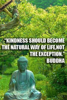 kindness should become the natural way of life, not the exception. - The Buddha