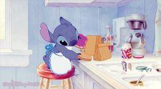 Stitch et Lilo ~ Petit encas ~ [❤️Disney❤️] ~ [✨GiF✨]