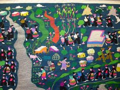 Image detail for -Priscilla Kibbee: Hmong Quilt for Sale, Escape to a New Life