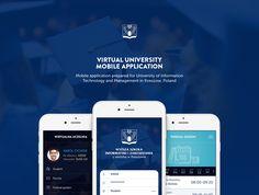 Virtual University Mobile Application on Behance