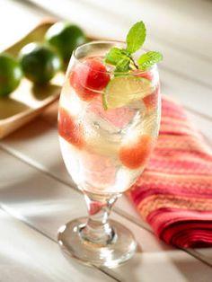 Melon Mint (light rum, Lipton Diet Green Tea with Watermelon, lime juice)