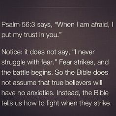 True believers are NOT exempted from anxieties, but thru the Word they know how to fight when they strike #TrustInGod