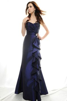 dropped waist bridesmaid gowns