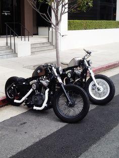 Bobber Inspiration | Harley Davidson Sportster Bobbers - #bobber| Bobbers and Custom Motorcycles