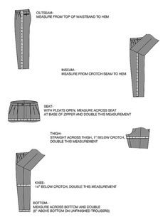 MEASUREMENTS for tailored pants by jefferytailor, via Flickr