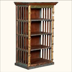 Rustic Open Slats #ReclaimedWood Golden Post Open #Bookcase Curio #interiors #contemporaryfurniture #homedecor #furniture #homeinspiration   http://www.sierralivingconcepts.com/