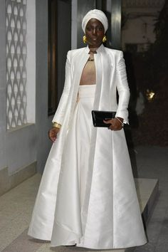 Actress Audilia Batista dressed in ELIE Kuame Couture for the Lusophone Film Festival in Zanzibar.