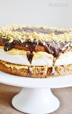 chute a vône mojej kuchyne. Sweet Desserts, Sweet Recipes, Czech Recipes, Ethnic Recipes, Russian Recipes, Celebration Cakes, Shortbread, Nutella, Tiramisu