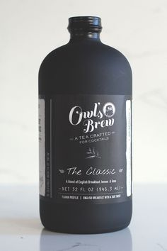 Owl's Brew - Tea for Cocktails   #packaging #bottledesign #tea