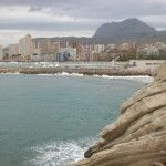 Imposing mountains give Benidorm its micro- climate.....