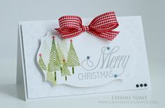 A balanced white space christmas card, using Lawn Fawn Stamps & a @Paper Crafts Magazine digital sentiment