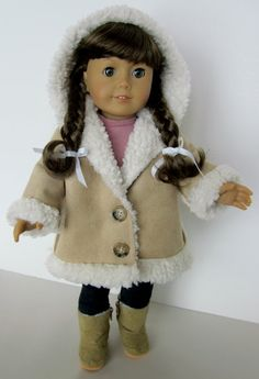 18 Inch Doll Clothes Shearling Hooded von SewMyGoodnessShop, $18,00