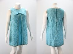 XL Vintage Dress 1960s Sleeveless Turquoise by SIZEisJUSTaNUMBER, $44.00 Good buy great looking dress.