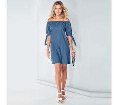Šaty s nariaseným výstrihom a rukávmi na zaviazanie | modino.sk #ModinoSK #modino_sk #modino_style #style #fashion #dress Shoulder Dress, Casual, Dresses, Fashion, Clothing, Dress Ideas, Fashion Ideas, Vestidos, Moda