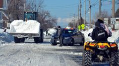 The lake-effect snowstorm dumped up to 88 inches of snow over a four-day period, closing a 100 mile section of The New York State Thruway as well as other major roads around Buffalo, Nov. 20, 2014.