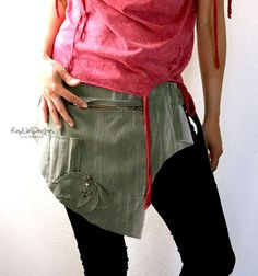 Bleached Cotton Twill Hip bag KHB043 by KayLim on Etsy