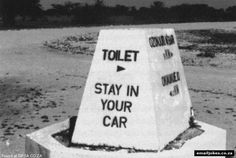 A funny drive thru toilet sign saying stay in your car in this potty comedy pic and humorous urinal plaque to laugh at. Funny Toilet Signs, Funny Road Signs, Fun Signs, Most Viral Videos, Funny Photos, South Africa, Hilarious, Jokes, Lol