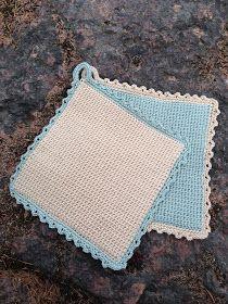 Anette L syr och skapar: Dubbelvirkade grytlappar Crochet Home, Knit Crochet, Yarn Crafts, Diy And Crafts, Stick O, Crochet Hot Pads, Craft Projects, Projects To Try, Crochet Potholders