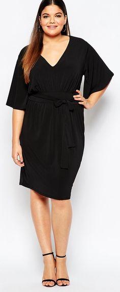 Plus Size Tie Front Dress