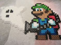 Luigi's Mansion perler beads by jpnmaynard on deviantart
