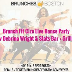 This is going to be a party y'all!!! #Repost @brunchesofboston  THIS SUNDAY join us for a fast-pace dance party with @fthis.life that will get your heartbeat and appetite up! After we dance we'll enjoy a full catered brunch from @statsinsouthie. . . . Details and tickets at link in bio or http://ift.tt/2fgcEe2  #brunchesofboston #brunchfit #cizelive