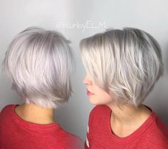 Gray Layered Bob