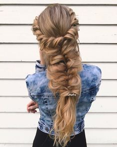 Boho hairstyle ideas,Twists and loose fishtails hairstyles,easy fishtail hairstyle ideas,simple hairstyles for long hair,easy hairstyles for school