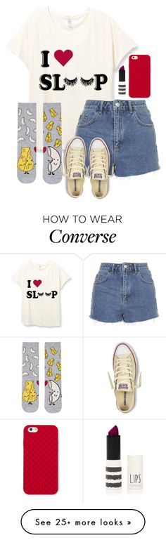 """""""Untitled #182"""" by dancergirl109 on Polyvore featuring Topshop, Converse, Tory Burch, women's clothing, women, female, woman, misses and juniors"""